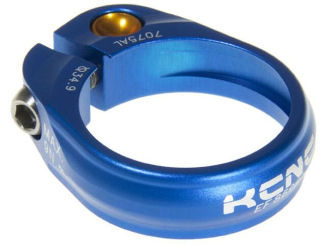 KCNC Road Pro Saddle Clamp Ø31.8 mm blue